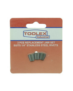 Toolex STAINLESSJAWS3PC Air Riveter Jaws 3-16