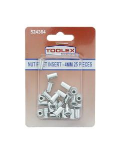 Toolex 000690-25PACK Nut Rivet Inserts 4mm
