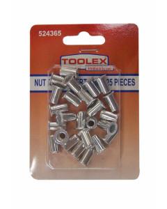 Toolex 000715-25PACK Nut Rivet Inserts 5mm