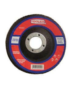 Toolex  Flap Disc 115 x 22mm 80 Grit