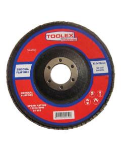 Toolex  Flap Disc 125 x 22mm 120 Grit