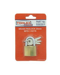 Toolex PADLOCKBRASS-25MM Padlock 12.5mm x 4.3mm