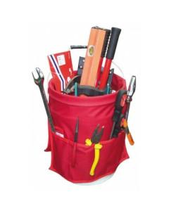 Toolex W-TEAM-3001RD Bucket Caddy (5 Gal)-16 Pocket