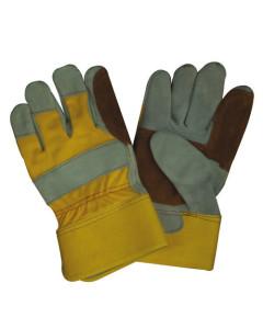 Toolex  Glove Tan & Grey Canvas Back