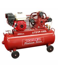 Air Compressor T21P-100L 6.5Hp Petrol Honda 4 Wheel 100L Tank TA65 Fusheng Pump 145 Psi