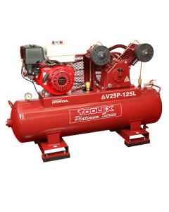 Air Compressor V25P-125L 9 Hp Petrol Honda Engine 125L Tank Fusheng Pump VA80 145Psi