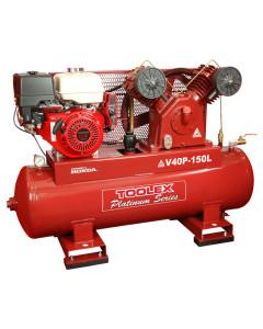 Air Compressor V40PES-150L 13 Hp Petrol Honda 150L Tank Fusheng Pump VA100 145Psi