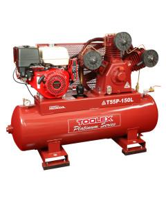 Air Compressor T55PES-150L 13 Hp Petrol Honda 150L Tank Fush eng Pump Electric Start 145Psi