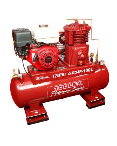 Air Compressor B24P-100L 9 Hp Petrol Honda Engine Fusheng B- 1 Pump 100L Fork  Tank 175 Psi