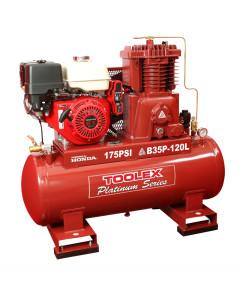 Air Compressor B35PES-120L 13 Hp Petrol Honda B-2 Fusheng Pump 120L Tank 175Psi Electric