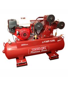 Air Compressor T30PES-125L 9Hp Petrol Honda Fusheng Pump TA80 125L Tank Electric Start 145Ps