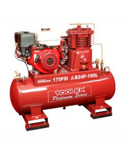 Air Compressor B24PES-100L 9Hp Petrol Honda Fusheng B-1 Pump 100L Tank Electric Start 175Ps