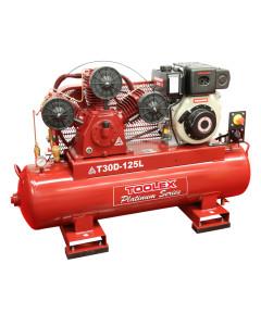 Air Compressor T30DES-125L 6.7 Hp Electrc Start Yanmar Diesel TA-80 Fusheng 125L Tank 145Psi