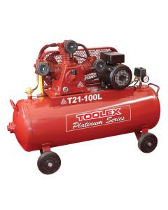 Air Compressor 3.2 Hp T21-100L 240V Electric 100L Tank Fushen g Pump TA65 4 Wheels 145Psi