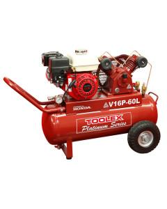 Air Compressor V16P-60L 5.5 Hp Petrol Honda Engine Fusheng VA65 Pump 60 Litre Tank 145Psi
