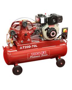 Air Compressor T20DES-70L 4.7 Hp Diesel Electr Start Yanmar Fusheng TA65 Pump 70L Tank 145