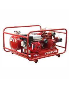 Air Compressor T20PMFC-60L 6.5 Hp Petrol Honda TA-65 Fusheng Pump 60L Roll Frame Tank 145Ps
