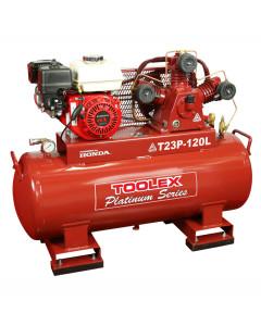 Air Compressor T23P-120L 6.5Hp Petrol Honda 120L Fork Feet Ta nk T65 Fusheng Pump 145 Psi