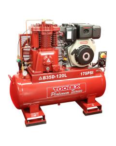 Air Compressor B35DES-120L 10 Hp Electrc Start Yanmar Diesel B-2 Fusheng Pump 120L Tank