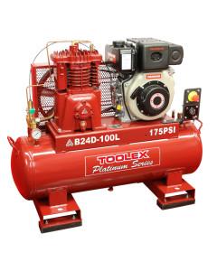 Air Compressor B24DES-100L 6.7 Hp Electrc Start Yanmar Diesel B-1 Fusheng Pump 100L Tank