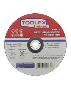Toolex GRIDISC230226.0 Grinding Disc 230 x 6 x 22mm