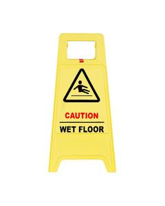 Toolex 7603 Sign Caution Wet Floor Yellow
