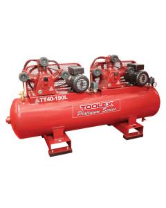 Air Compressor 2 X 3.2Hp TT40- 190L 240V Electric 190L Foot Mount Tank 2 Fusheng TA65 Pump
