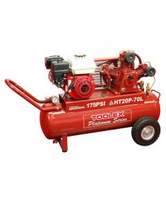 Air Compressor THT20P-70L 6.5 Hp Petrol Honda  HTA65 Fusheng Pump 70L Tank 175 Psi