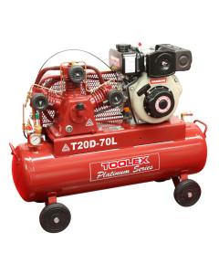 Air Compressor T20D-70L 4.7Hp Diesel Recoil Start Yanmar 145 Psi Fusheng Pump TA65 70L Tank