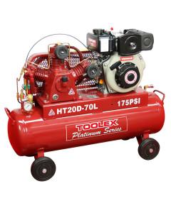 Air Compressor HT20D-70L 4.7hp Diesel Recoil Start Yanmar 175 Psi Fusheng Pump HTA65 70LTank