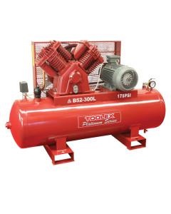 Air Compressor 10 Hp B52-300L 415V 300L Tank Fusheng Pump B3 2 Stage 175 Psi