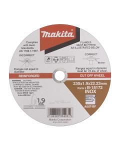 Cutting Disc 230 x 1.9 x 22mm Ultra Thin Inox B-18172 10 Per Pack Sold Individually
