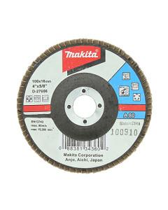 Makita D-27006 Flap Disc 100mm 80 Grit