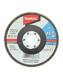 Makita D-27034 Flap Disc 115mm 40 Grit