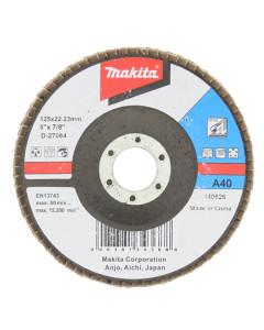 Makita D-27084 Flap Disc 125mm 40 Grit