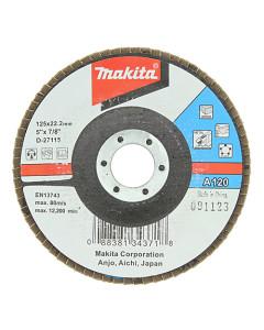 Makita D-27115 Flap Disc 125mm 120 Grit