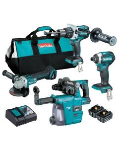 Makita DLX4127TX1 4pc Cordless Tool Kit 18V
