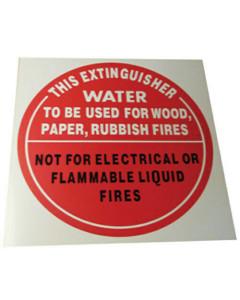 Fire Box IDAW Identification Disc Air-Water