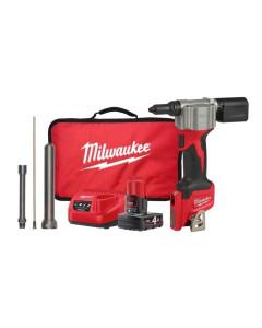 Milwaukee M12BPRT-401B Cordless Rivet Tool Kit 12V