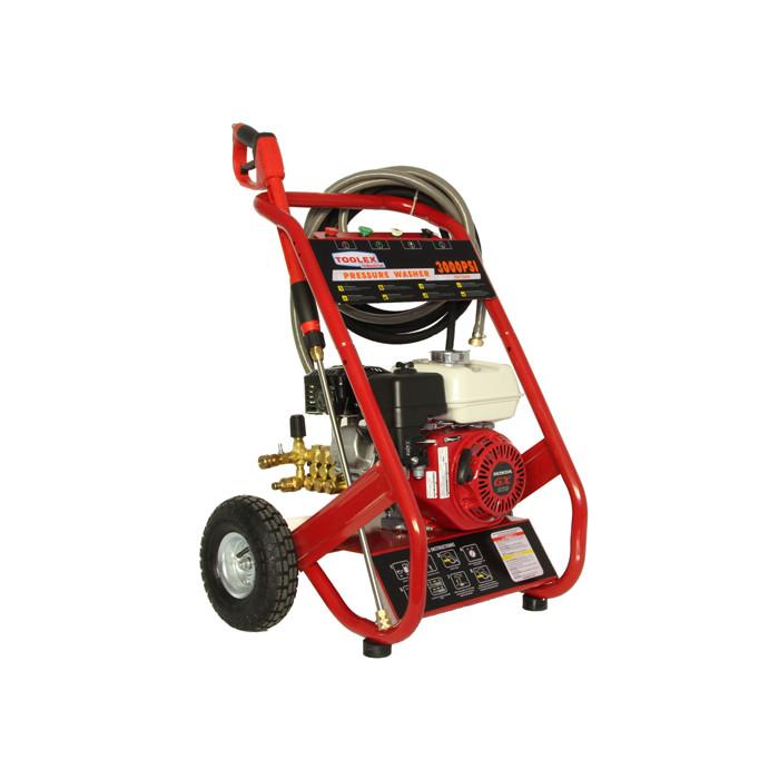 597049 Pressure Washer Petrol 6 5hp Honda Gx200 12 6lm 3000psi 3 Ceramic Pistons 10m Hose Toolex