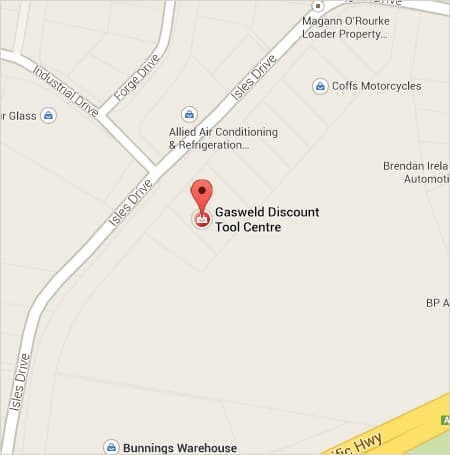Gasweld Coffs Harbour Store Location Map